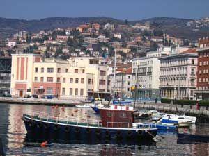 Harbor of Trieste Italy
