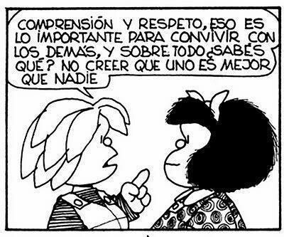 Mafalda es el nombre de una tira de prensa argentina desarrollada por el humorista gráfico Quino de 1964 a 1973, protagonizada por la niña homónima, «espejo de la clase media latinoamericana y de la juventud progresista», 1 que se muestra preocupada por la humanidad y la paz mundial, y se rebela contra el mundo legado por sus mayores.