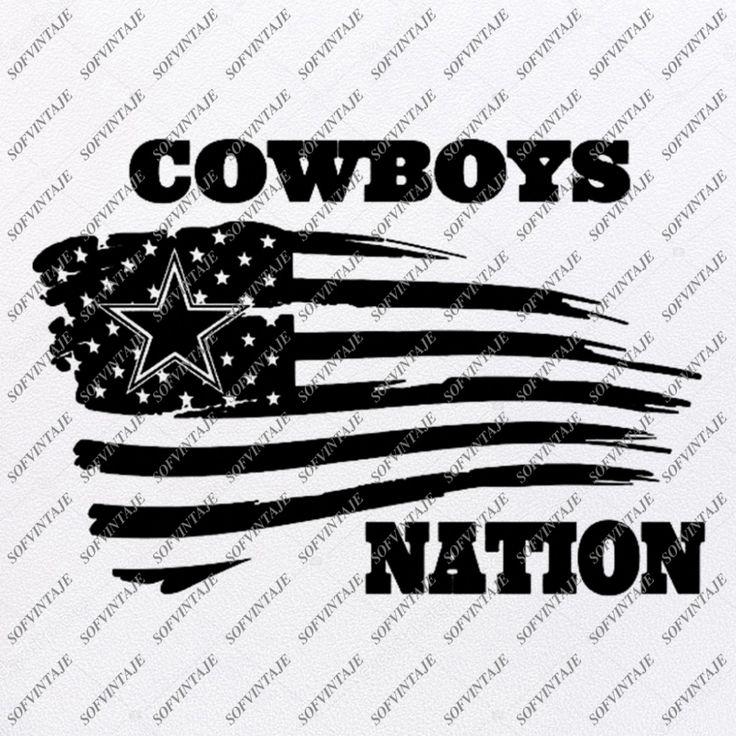 Cowboys Football Svg File Football Svg Usa Flag