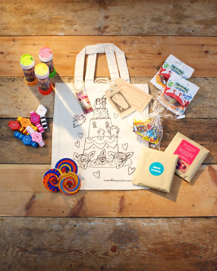 Ive Just Found Colour In Wedding Favour Bag With Gifts Our Classic Tote Comes Complete A Pack Of 8 Fabric Crayons And