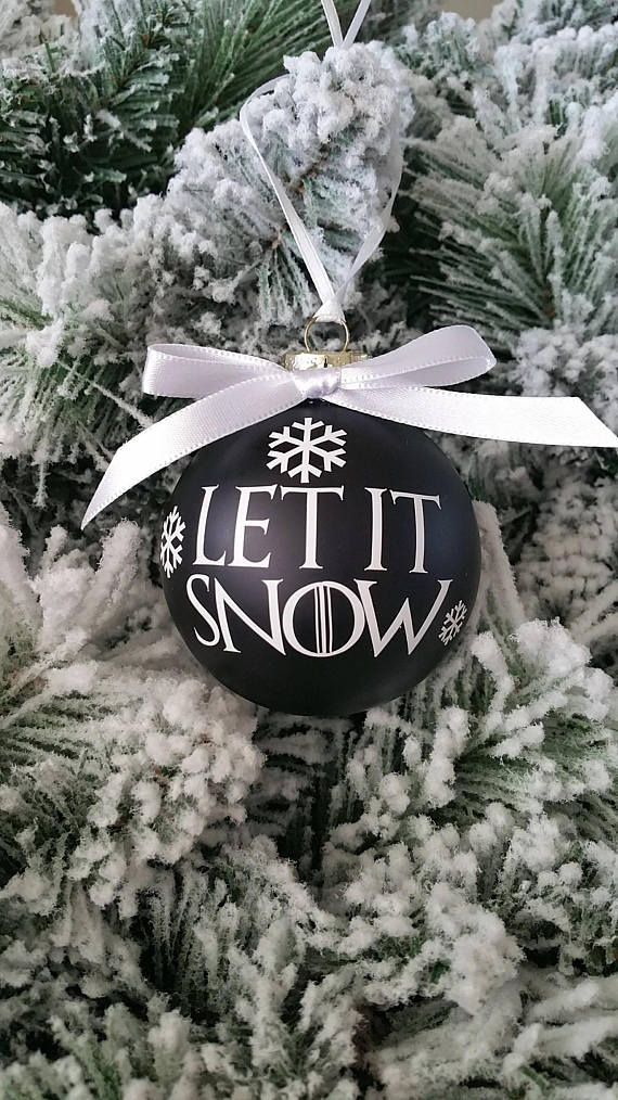 Game of Thrones Christmas Ornament, Christmas Decoration, Christmas Tree, Christmas Gift, Let it Snow, Game of Thrones Gift, Holiday Decor