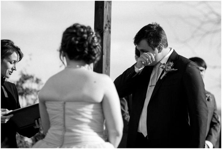 Groom crying emotionally for Paseo Wedding Photos.