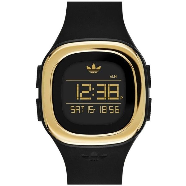 adidas Originals 'Denver' Digital Silicone Strap Watch, 42mm (€75) ❤ liked on Polyvore featuring jewelry, watches, digital wristwatch, logo watches, digital watches, sporty watches and adidas originals watches