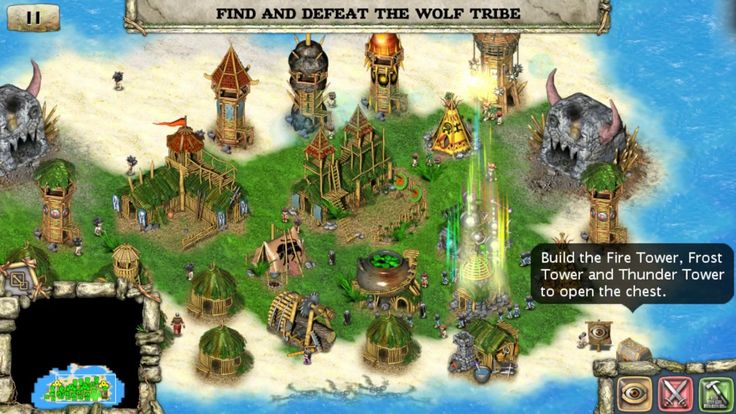 Totem tribe Gold Real Time Strategy Android and IOS - OFFLINE