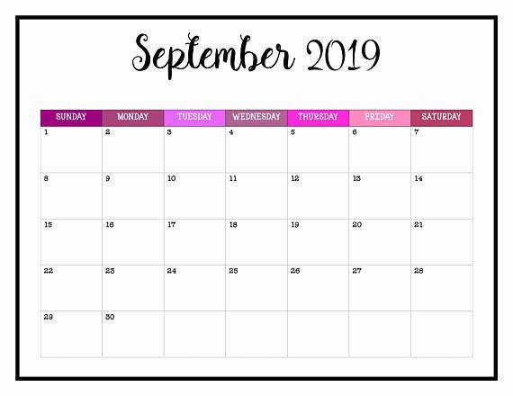 Elegant 51 Examples Free Fill In September 2019 Printable