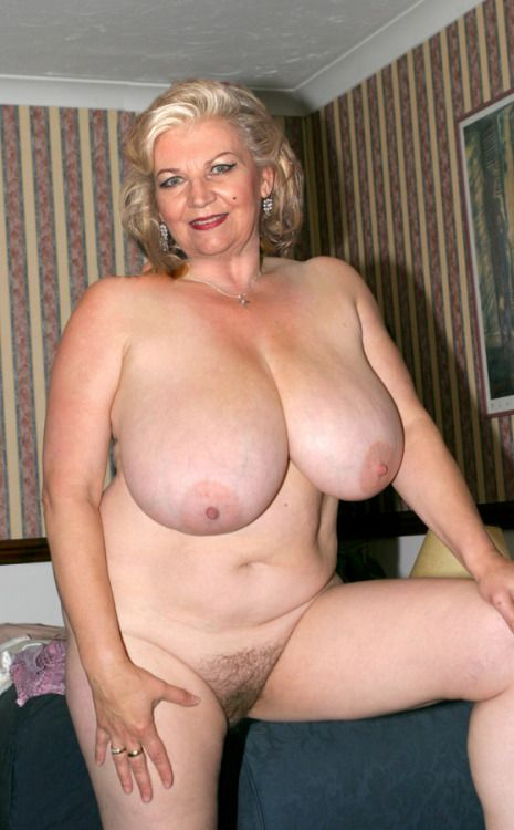 Big tits old granny