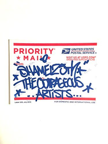 Original urban graffiti street art slap sticker signed by https