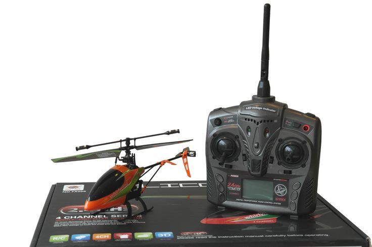 FX56 RTF Single Rotor RC Helikopter - 2.4 GHz - 4 Kanals     Lille RTF RC Helikopter med gode flyve egenskaber. Nem at styre, men alligevel udfordrende for den mere øvede pilot grundet de 4 kanaler. Kan flyve frem - tilbage, op - ned, sidelæns højre - venstre, dreje til højre - venstre.    22 cm.   Single Rotor   Fast Pitch med Gyro   LCD monitor   2.4GHz, 4 kanals   Ca. 1 times ladetid   Ca. 8 til 10 minuters flyvetid   Rækkevidde op til ca. 50 meter