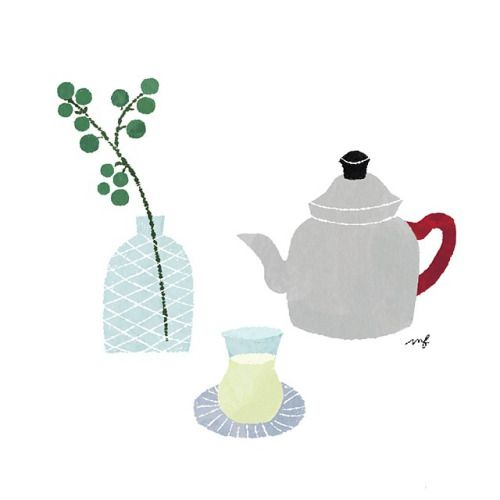 お風呂上がりの冷たいお茶が美味しい季節! #illustration #drawing #暮らし #日々