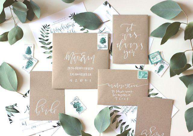 Kraft Wedding Suite | Calligraphy | A Fabulous Fete | Bloglovin'