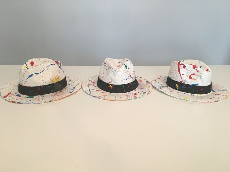 Hand painted panama hat