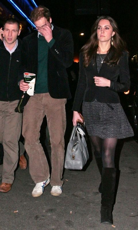 11 December 2009: Prince William and Kate Middleton leave The New London Theatre together after watching the play War Horse