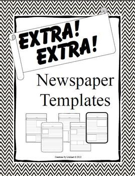 Extra! Extra! Newspaper Templates for Expository Writing