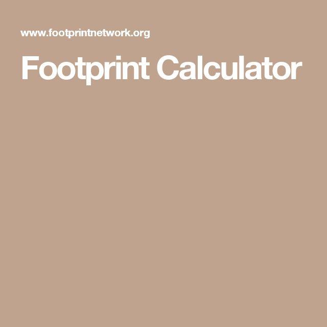 Footprint Calculator