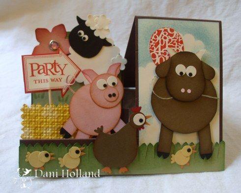 lots of animals - a barnyard party! CUTE!