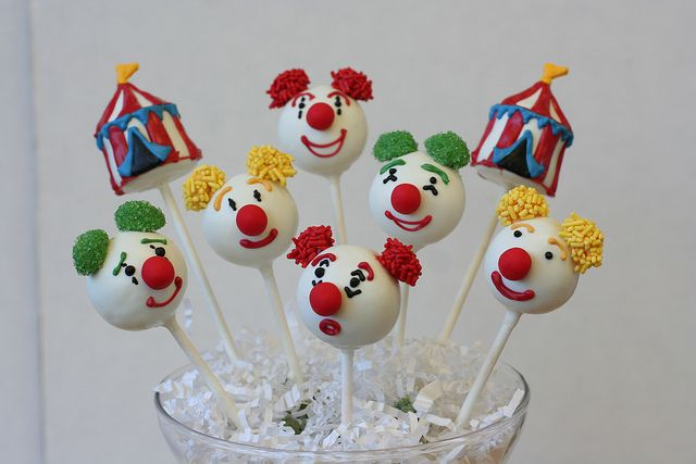 Circus Cake Pop Assortment by Sweet Lauren Cakes, via Flickr
