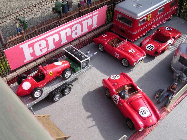 Vintage Ferrari Racing Paddock Diorama