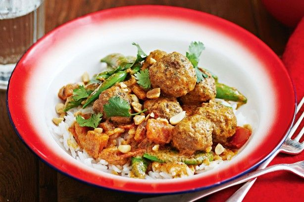Meatballs are a delicious way to enjoy the flavours of a massaman curry.