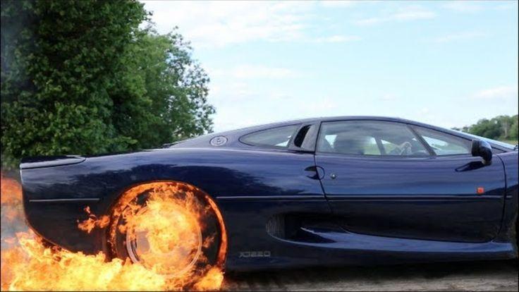 Fiery Jaguar XJ220 Burnout Trailer