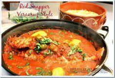Veracruz Style Red Snapper / Huachinango a la Veracruzana