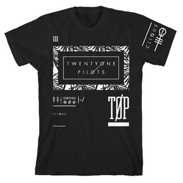 Hip Hop Twenty One Pilots T Shirt Men Funny T Shirts Streetwear Tshirt Men Fitness Tee Shirts Homme Luxe Camisetas Hombre #jewelry, #women, #men, #hats, #watches