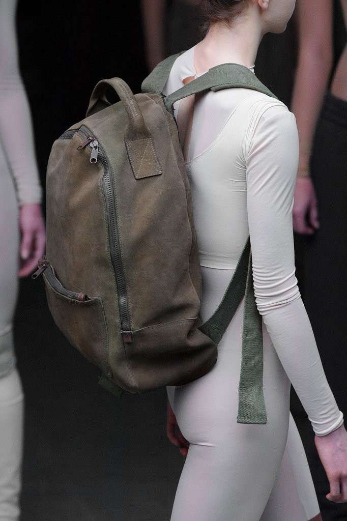 Borse New York Fashion Week Autunno Inverno 2015-2016 - Zainetto in pelle marrone delavè Kanye West x Adidas