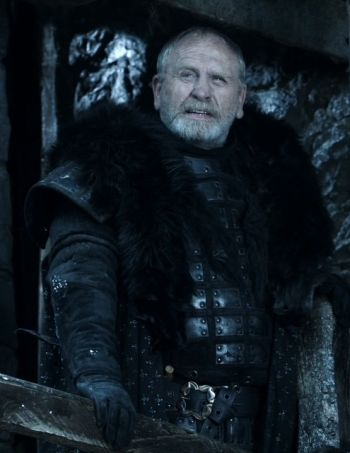 James Cosmo as Jeor Mormont, Lord Commander of the Night's Watch. Also known as the 'Old Bear'.