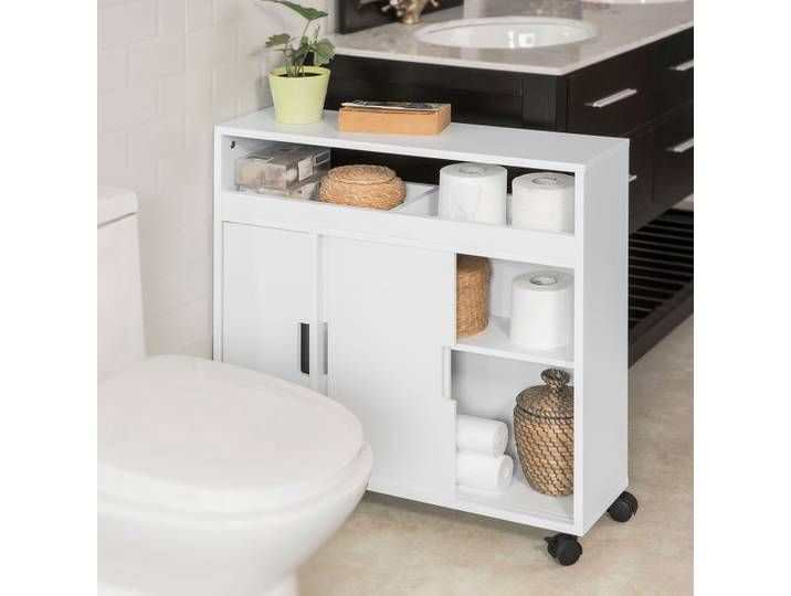 Sobuy Nischenregal Badezimmerschrank Toilettenpapierhalter Stehend