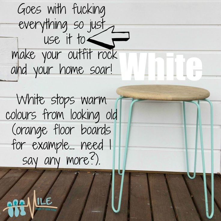 White goes with...