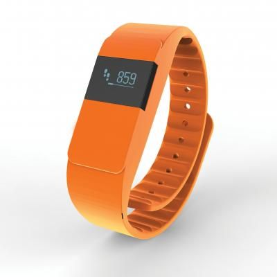 Image of Branded Activity Tracker. Sports Tracker In Orange