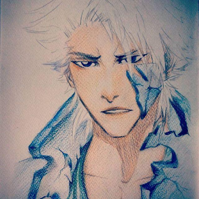 #manga #anime #hitsugayatoshiro #bleachanime #bleach #fanart #toshiro #hitsugaya #drawing #colouredpencils @saitonart