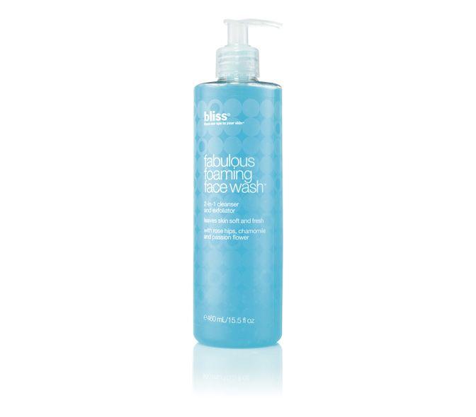 bliss fabulous foaming face wash super-sized