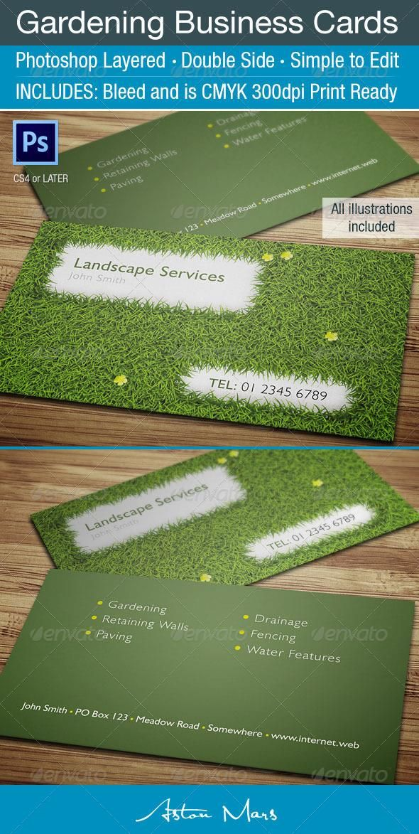 Lawn Care Business Card Templates. Excellent Popscreen With Lawn ...