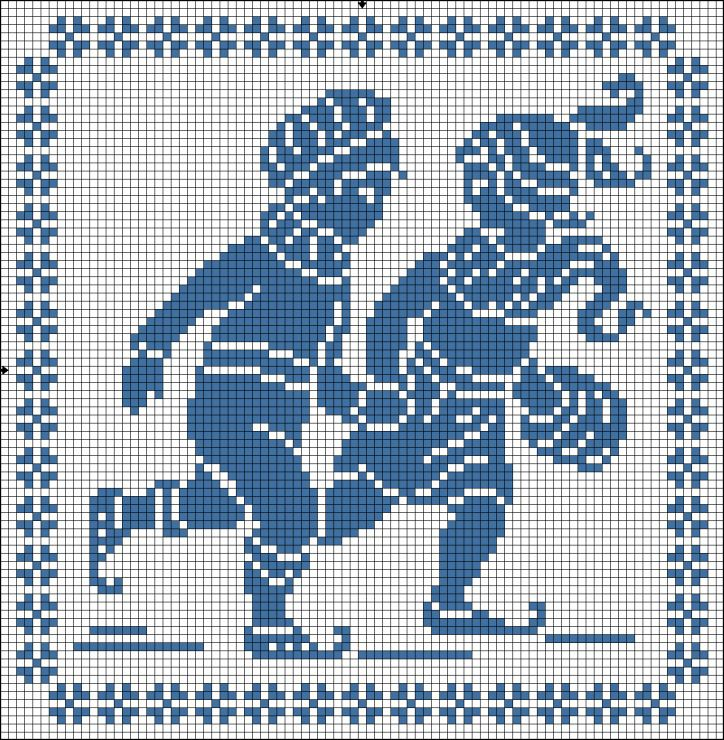 Gallery.ru / Фото #7 - one colour - renske1957. Cross stitch pattern
