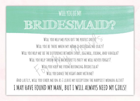 Best 10+ Bridesmaid Poems Ideas On Pinterest