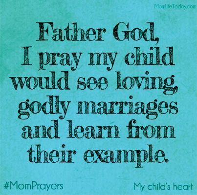 My prayer for you my child