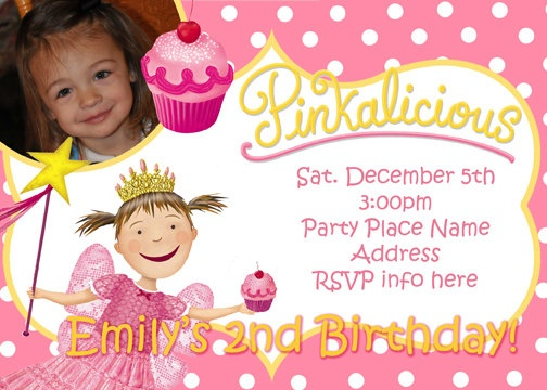 190 best Goldilicious Pinkalicious Birthday Inspiration images – Pinkalicious Party Invitations