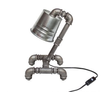 nenart 224 Raw Boru Galvaniz Şapka Lamp