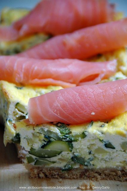 cheesecake di zucchine e salmone affumicato               #recipe #juliesoissons