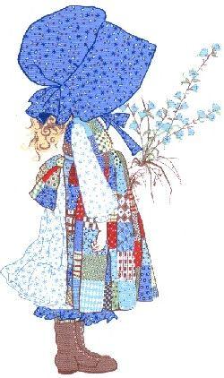Blue bonnet girl - just like when I was little ♥