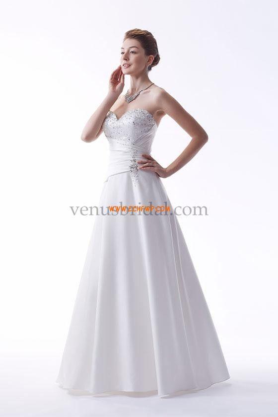 Retro inspirace Podzim Bez rukávů Svatební šaty 2015