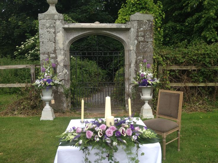 Outdoor Civil ceremony at Waterford Castle