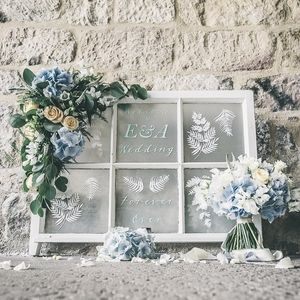 VINTAGE WINDOW WELCOME SIGN For A Wedding, Collaborating With The Flower  Girls