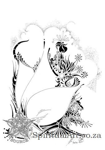 """""""Dreams"""" - Conscious Drawing by Source - Inspirational, Intuitive Art: size A5 