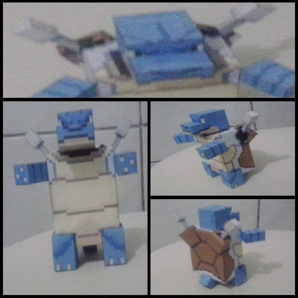Papercraft Blastoise - pokecube mod (and shiny)