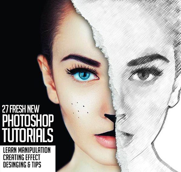 27 Fresh New Photoshop Tutorials to Improve Your Designing Skills #photomanipulation #photoediting #photoeffect