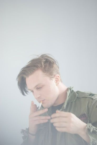 More hot guys smoking. I just swoon every time. - Michael Pitt for the Brooklyn Magazine