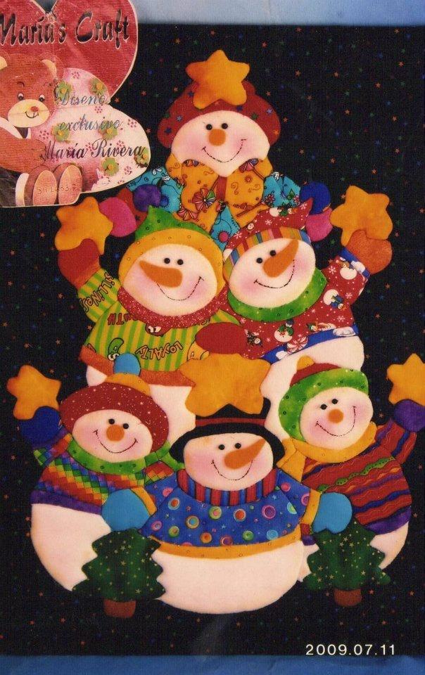 Conjunto de muñecos de nieve