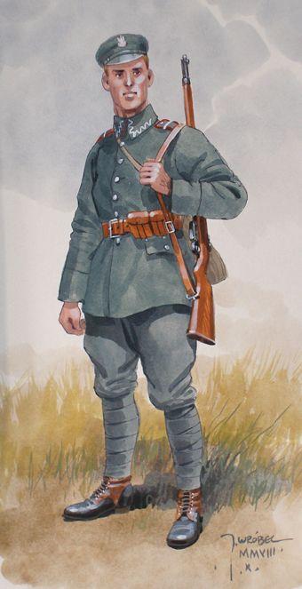 Piechur polski 1918 - 1920