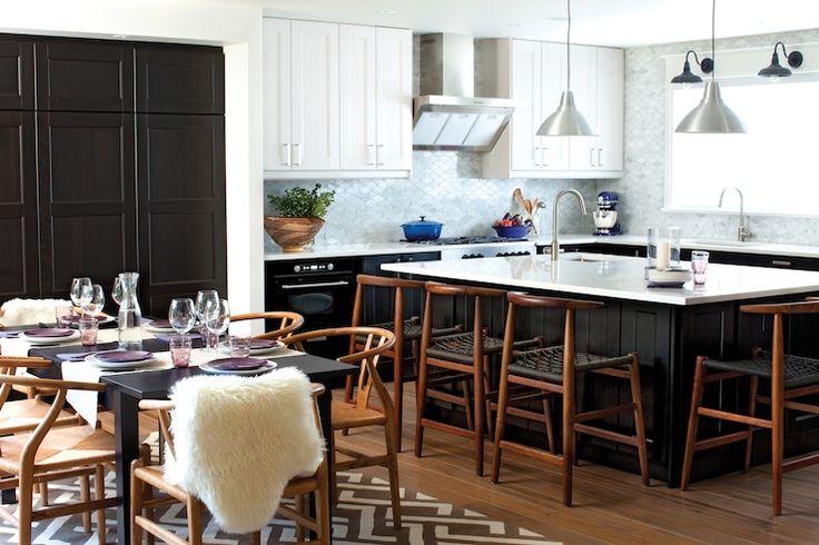 Chatelaine - kitchens - Ikea Ramsjo, IKea Tyda Handle, Ikea Praktfull Pro Exhaust Hood, Ikea Foto Lamp, Ikea Elverdam Faucet,